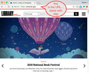 the URL is in the address bar at the top of the browser page