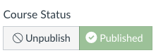 published canvas site status