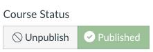 published canvas site status