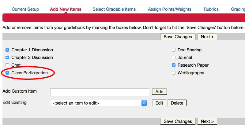 Add custom item