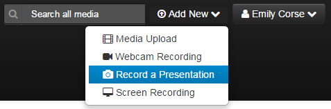 record a presentation screenshot