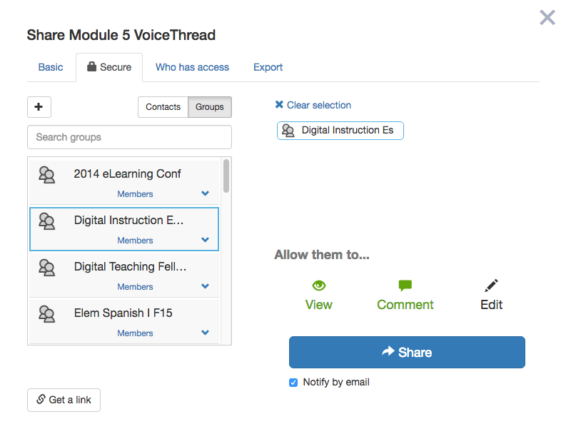 share VoiceThread